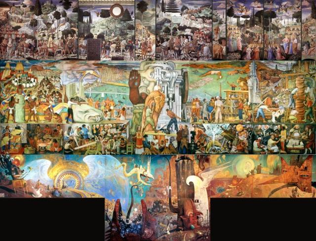 Benozzo Gozzoli + Diego Rivera + Shaun Tan