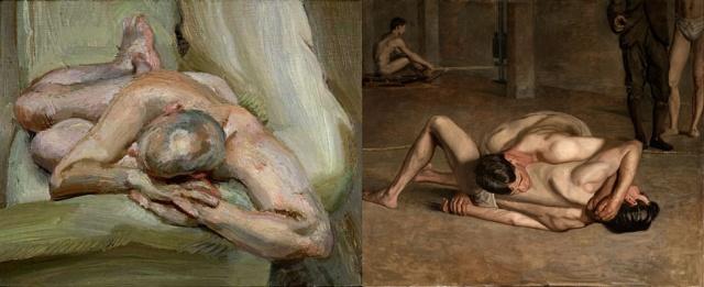 Lucien Freud + Thomas Eakins