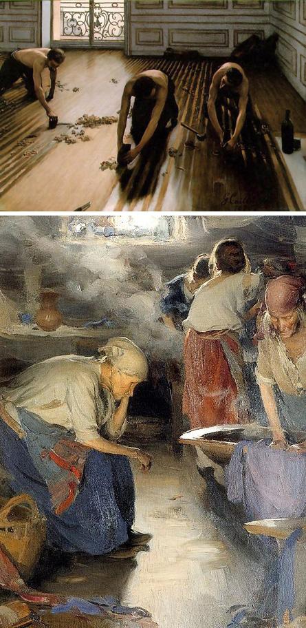Gustave Caillebotte + Abram Efimovich Arkhipov