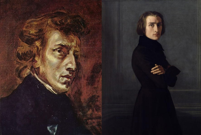 Ferdinand Victor Eugène Delacroix + Henri Lehmann