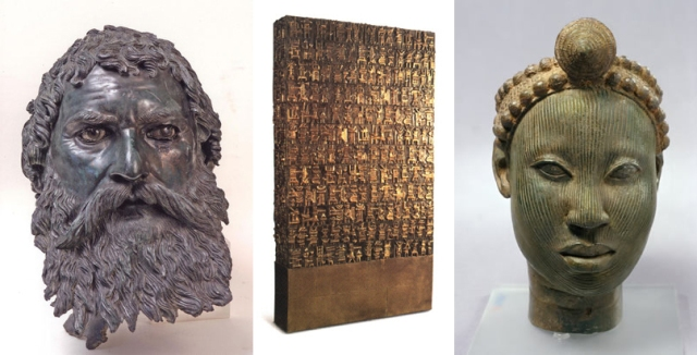 Seuthes III + SeParviz Tanavoli + Benin Head with Crown