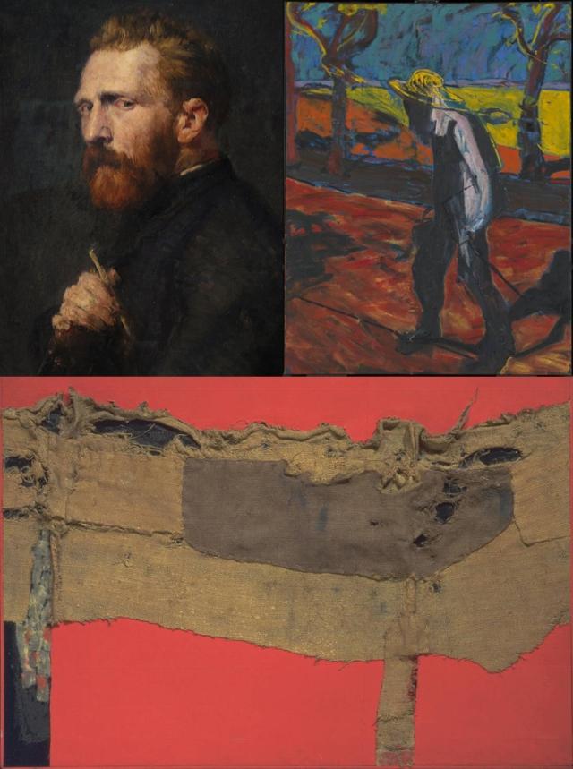 John Peter Russell + Francis Bacon + Alberto Burri
