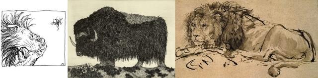 Arthur Rackham + Etsuko Fukaya + Rembrandt Harmenszoon van Rijn