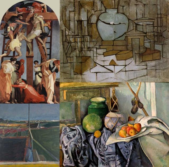 Rosso Fiorentino + Mondrian + Paul Cézanne + Richard Diebenkorn