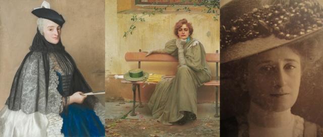 Jean-Étienne Liotard + Vittorio Matteo Corcos + Anon (Amalia, my great-grandmother)