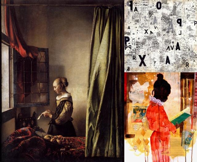 Johannes Vermeer + Mira Schendel + Ekua Holmes