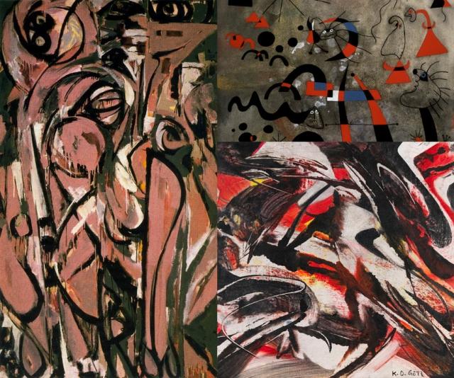 Lee Krasner + Joan Miró i Ferrà + Karl Otto Götz