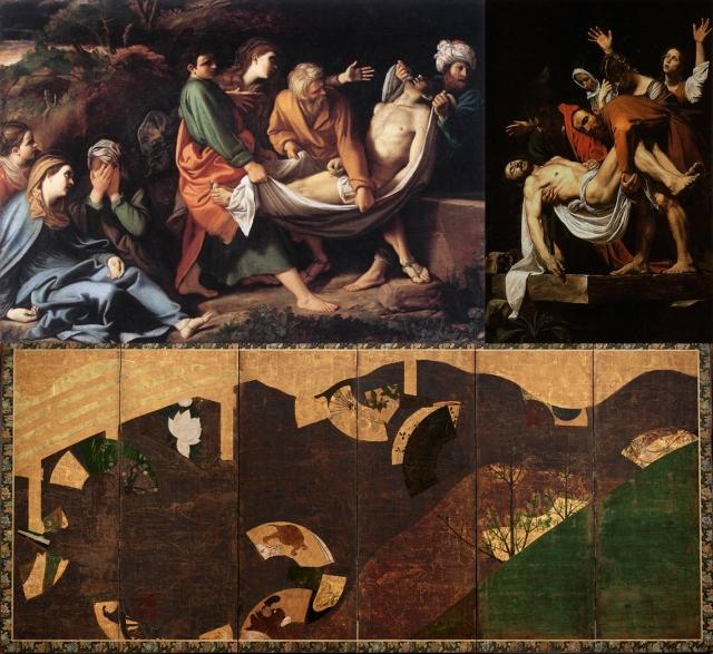 Sisto Badalocchio + Michelangelo Merisi o Amerighi da Caravaggio + Tawaraya Sotatsu