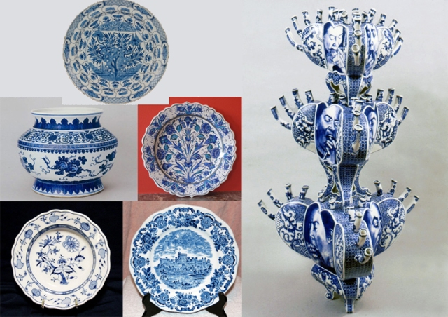 Delftware + Ming + Iznik + Meissen + Wedgwood + Ann Agee
