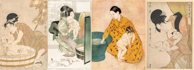 Kitagawa Utamaro + Helen Hyde + Mary Cassatt + Kitagawa Utamaro