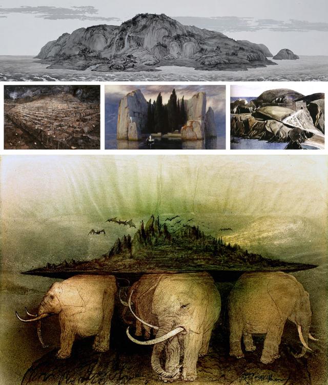 Qiu Anxiong + Anselm Kiefer + Arnold Böcklin + Charles Rennie Mackintosh + Ralph Steadman