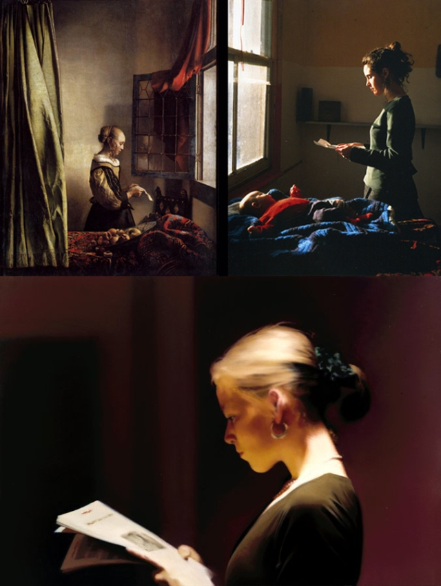 Vermeer + Tom Hunter + Gerhard Richter