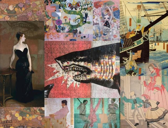 Gustav Klimt + Ban Chinatsu + Takano Aya + Utagawa Sadahide + Egon Schiele + Leon Golub + John Singer Sargent + Shark Toof